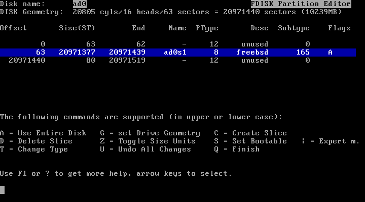 FreeBSD Partition