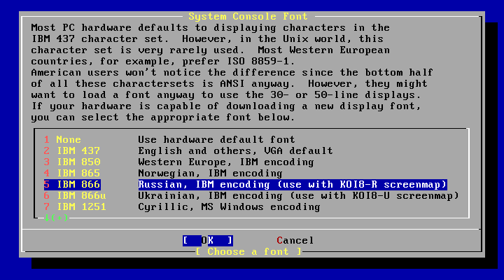 FreeBSD System Console Font