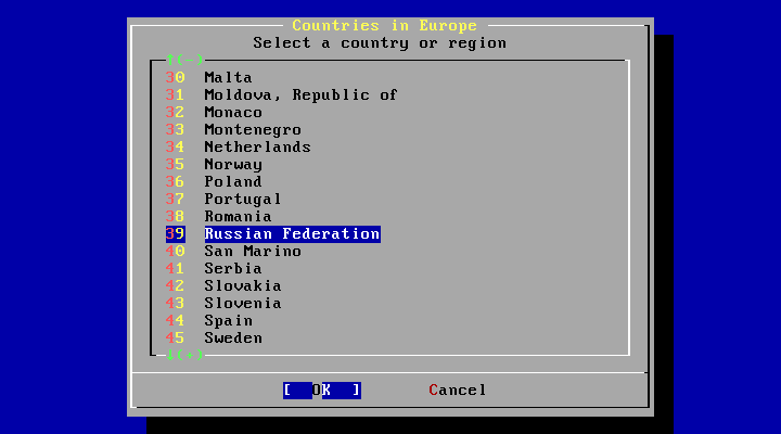 FreeBSD Countries in Europe